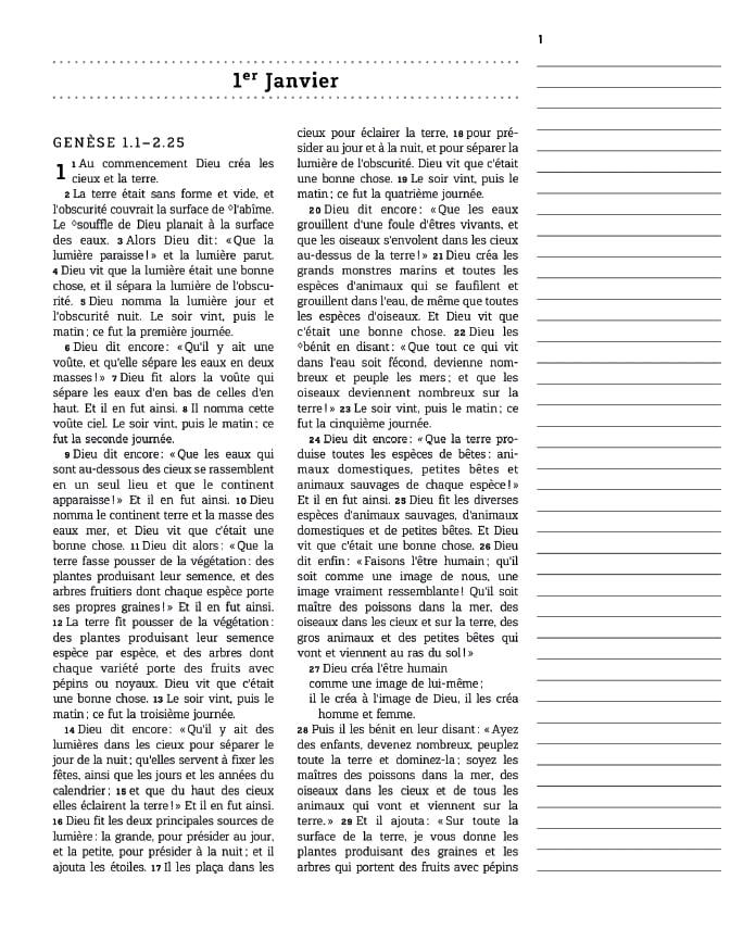 La Bible en un an