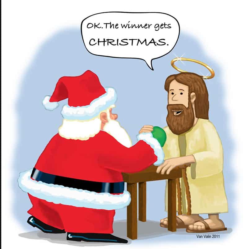 Père noël et Jesus