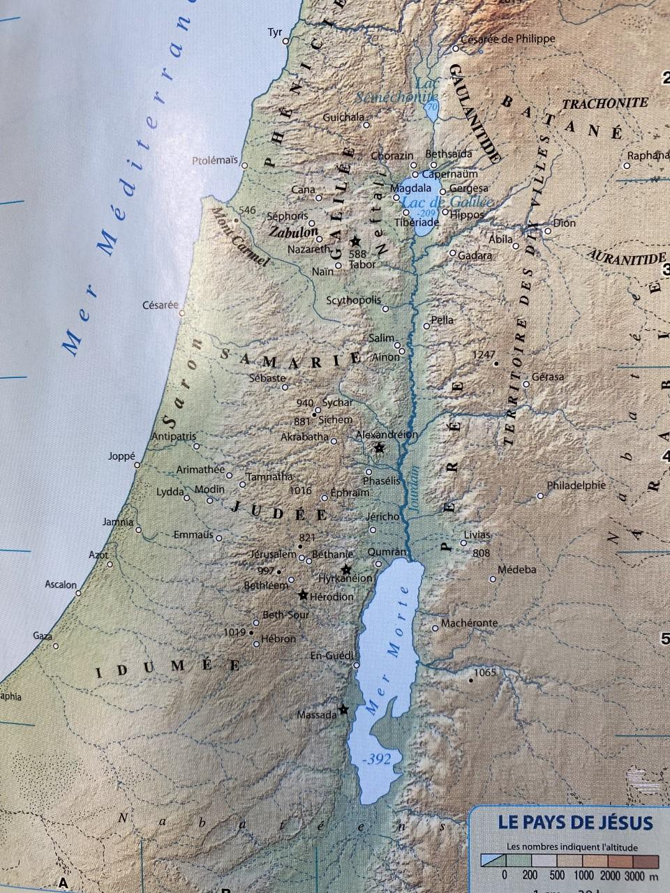 Carte Pays de Jésus